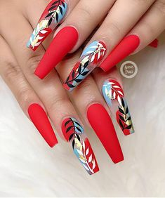 red nails short / red nails _ red nails acrylic _ red nails design _ red nails glitter _ red nails coffin _ red nails short _ red nails acrylic coffin _ red nails with rhinestones Rhinestone Nails, Bling Nails, Swag Nails, 3d Nails, Coffin Nails, Grunge Nails, Stylish Nails, Trendy Nails, Cute Nails