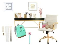 """""""Back to school """" by donuts-and-dogs on Polyvore featuring interior, interiors, interior design, home, home decor, interior decorating, JanSport, PBteen, Kate Spade and Saturday/Sunday"""