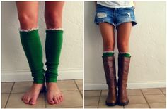 Boots with Leg Warmers
