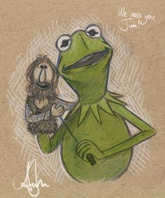 Kermit and Jim by mimi-na.deviantart.com on @deviantART