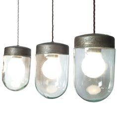 wonderful italian 40s-50s industrial light
