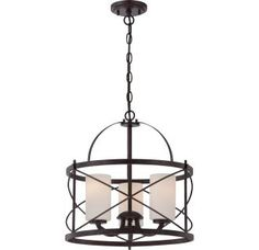 View the Nuvo Lighting 60/5337 Ginger 3 Light Full Sized Multi Light Pendant in Old Bronze at LightingDirect.com.
