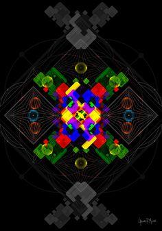 Cognitive Dissonance, Virtual Art, Visionary Art, Psychedelic Art, Paper Art, Mystic, Print Design, Art Gallery, German