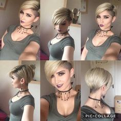 Shaved Sides Haircut Female Source Short Shaved Haircut Source Short Hair with Side Shaved 2019 Source Shape Shaved Nape Source Cool Mohawk Source Asymmetrical Side Shaved Bob Source Short Sides Source Shaved… Continue Reading → Undercut Hairstyles, Pixie Hairstyles, Pixie Haircut, Bob Haircuts, Shaved Bob, Shaved Hair, Bob With Shaved Side, Shaved Sides Pixie, Shaved Side Haircut