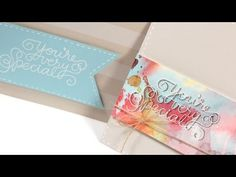 Make a Card Monday #242 - Watercolor Emboss Resist - YouTube