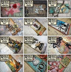 thank you for being part of the 12 tags of i appreciate you sharing your wonderful ideas throughout the year and uploading your finished projects each month. i hope you had fun with this co. Tim Holtz Dies, Tim Holtz Stamps, Small Cards, Artist Trading Cards, Vintage Tags, Ink Pads, Distress Ink, Christmas Tag, Card Tags