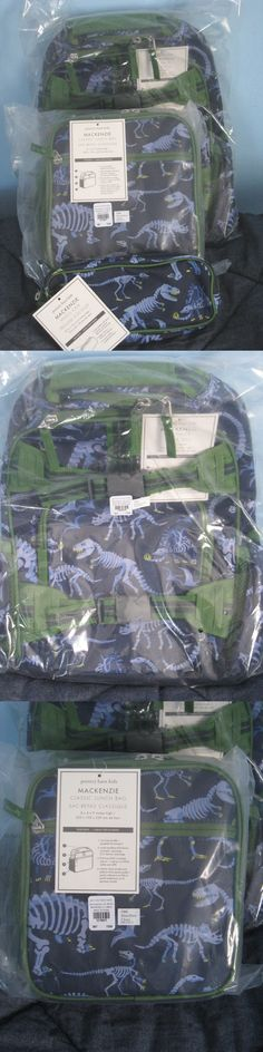 Backpacks and Bags 57882: New Pottery Barn Kids Large Dinosaur Backpack 3Pc Set! Sold Out! Rare Find! -> BUY IT NOW ONLY: $149.95 on eBay!