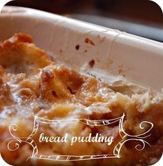"Perfect BREAD PUDDING recipe, courtesy of ""#Christmas with Paula Deen""."