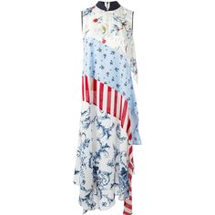 Antonio Marras patchwork maxi dress ($1,138) ❤ liked on Polyvore featuring dresses, blue, multi color maxi dress, multicolored dress, multi colored dress, blue maxi dress and multi-color dresses