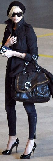 """Charlize Theron carrying Dior """"Gaucho"""""""