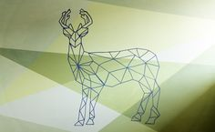 murals geometric | geometric stag mural 4 likes acrylic west coast inspired mural for ...