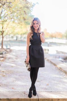 Black dress black tights