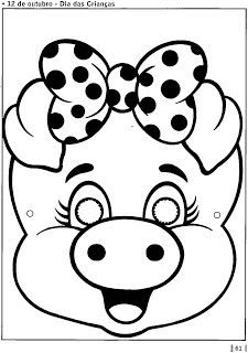 carnaval en color y bl-n - Pilar - Picasa Web Albums Pig Crafts, Paper Crafts, Free Coloring Pages, Coloring Books, Incredibles Birthday Party, Pencil Drawings For Beginners, Animal Stencil, Nursery Activities, Animal Masks