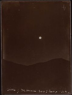 Eclipse of April 16, 1893 (Chile). Contact printed in sunlight with the original glass plate negative. Lick Observatory Plate Archive, Mt. Hamilton. Copyright University of California at Santa Cruz.