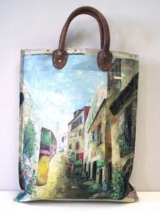 Image of Painting Bag - they sell for about $200. Made in Amsterdam and now Rolling Meadows.