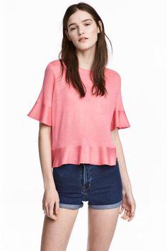 Camiseta con volantes - Rosa - MUJER | H&M ES 1