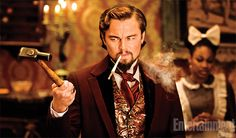Di Caprio in first still shot from Quentin Tarantino upcoming flick Django Unchained: http://insidemovies.ew.com/2012/04/26/first-look-two-photos-revealed-from-quentin-tarantinos-django-unchained-exclusive/