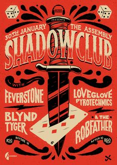 And another poster from January, this time for Shadowclub!It's a companion piece to the one I made for them last year. // Ian Jepson