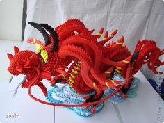 Модульное оригами - Дракон Символ наступающего 2012 годаЛауреат конкурса