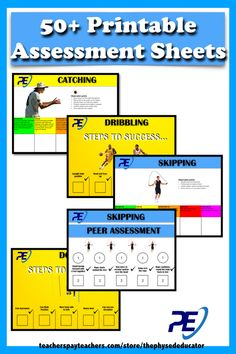 Physical Education SELF and PEER Assessment Task Cards including PE Assessment Rubrics 60 pages of Individual FMS (Fundamental Movement Skills and Movement for Physical Activity Rubrics coving all the skills required to assess your students in physical activity (See full List below) including PEER and SELF ASSESSMENT TASK CARDS... Now you will have EVERYTHING YOU NEED and MORE.......with a fully printable assessment resource to help assess every skills necessary to aid your students success.