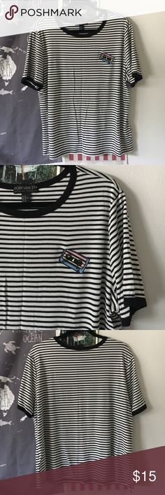 Forever 21 90s striped tee Really really cute! Funky 90s vibe. It's a F21 3x but fits wayyyy more like an xl. Forever 21 Tops Tees - Short Sleeve