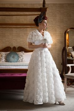 Tea length Wedding dress by Christine Trewinnard