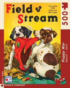 Puppy War – New York Puzzle Company. 500 Piece Puzzle.