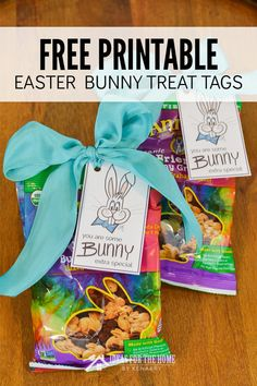 Tell someone they're special using these free printable Easter Bunny gift tags. Attach them to treats and small gifts in your child's Easter basket. #kenarry #ideasforthehome