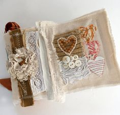 Art by the fabulously talented Rebecca Sower. Textile/mixed media.