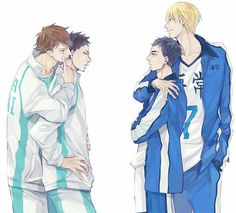 Haikyuu and kuroko no basket crossover! I don't feel like dying their names!