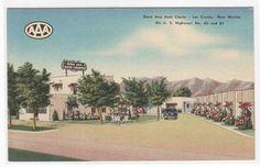 Dona ANA Auto Courts Motel US 80 85 Las Cruces New Mexico Linen Postcard | eBay