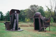 Tanya Wood, Former University of Alberta Undergraduate student makes multiple component piece for Franconia Sculpture Park, and subsequently installed at State University of New York in Plattsburg