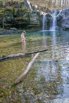14 Waterfalls in Arkansas - The Falls at Lake Catherine State Park: These wide, beautiful waterfalls drop about 10 feet and into a blue pool in a scenic, wooded setting not far from the lake. From I-30, take exit 97 near Malvern and go north 12 miles on Ark. 171. This road will dead end at Lake Catherine State Park. Follow the park signs to the Falls Branch Trail. This trail begins near the campground, winds through the wooded area of the park, and crosses Little Canyon Creek in several ...