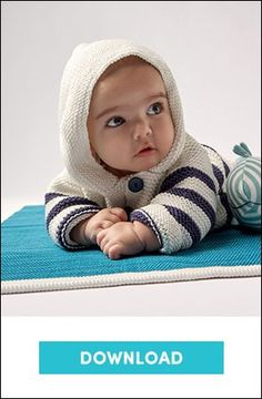 Hooded jacket in Phildar Phil Thalassa, an adorable pattern for children! Find this pattern at LoveKnitting. Baby Knitting Patterns, Baby Cardigan Knitting Pattern, Christmas Knitting Patterns, Arm Knitting, Baby Patterns, Lead Generation, Cardigan Bebe, Crochet Fall, Baby Scarf
