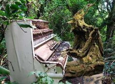 Here's a good idea if you don't know what to do with an old piano...