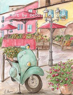 Paris Decor, Paris Art Prints, Set Of 4 Personalized Paris Nursery Wall Art, Custom Name Baby Girl Gift Idea, 6 Sizes to Poster Paris Decor, Paris Art, Paris Theme, Paris Nursery, Baby Nursery Art, Paris Bedroom, Nursery Room, Bedroom Decor, Bedroom Girls