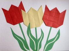 een tulp vouwen van papier