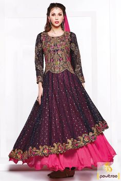 Get perfect Indian look with this latest blue pink georgette wedding wear anarkali suit online at discount deal. This bridal suit by wholesale manufacturer of Fashions Myntra. Diwali Special Discount Offer: 5% OFF FOR Buy 1 Product 10% OFF FOR Buy 2 Product 15% OFF FOR Buy 3 Product or more #anarkalisuit, #floorlengthanarkalisuit, #weddinganarkalisuit, #bridalanarkalisuit, #designersuit More : http://www.pavitraa.in/store/designer-dresses-collection/ Call / WhatsApp : +91-76982-34040