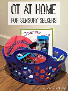 OT Activities at Home for Sensory Seekers. Simple easy activities you can start at home today!