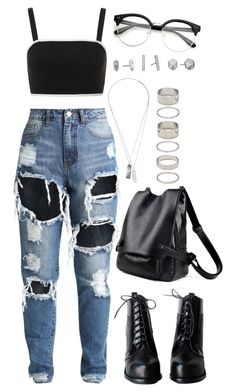 """Untitled #1381"" by asoul4 ❤ liked on Polyvore featuring Topshop, Werkstatt:München, Forever 21, Kendra Scott and rippedjeans"