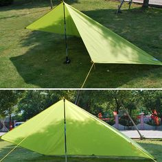 250 x 150CM Portable Camping Tent Sunshade Outdoor Waterproof Shelter Canopy Tentage