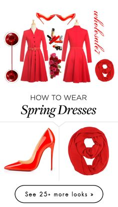 """""""dress : wholesale7"""" by cherry0808 on Polyvore featuring Eurø Style and Christian Louboutin"""
