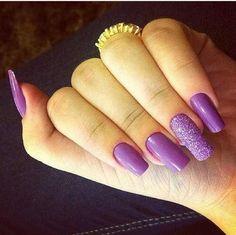 Purple Mani. #nailart #mani #polish - See more nail looks at Bellashoot.com  share yours!