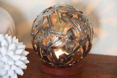 Small Key Ball Tea Light Key Light Metal Sculpture by Moerkey