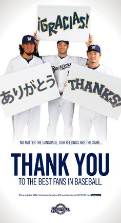 Thank You, Brewers Fans!