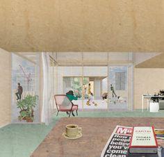 7 Modern House Plans Samples – Modern Home Watercolor Architecture, Architecture Collage, Architecture Visualization, Architecture Student, Architecture Drawings, Architecture Plan, Interior Architecture, Interior Design, Modern House Plans