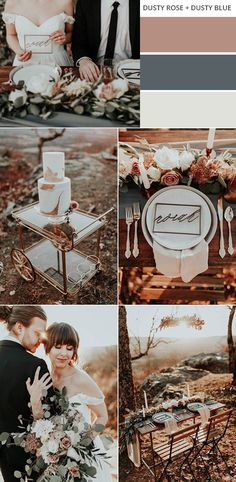 dusty rose and dusty blue fall wedding color ideas #weddingcolors #fallwedding #weddingideas #weddingdecor