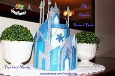 Fazer Bolo Frozen Castelo de EVA passo a passo