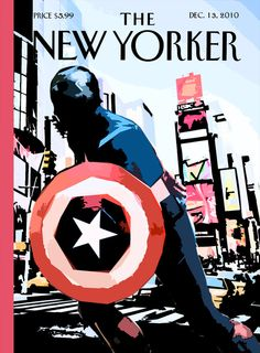 The New Yorker - December 13, 2010 Captain America, faceless.  MediAvengersis an MCU media blog. Magazine spreads and newspaper articles made by fans, for the fans of the Marvel Cinematic Universe. Facebook| DeviantArt| Pinterest| Twitter | G+ All non-Marvel headlines are from the original real-world issue of the publication.
