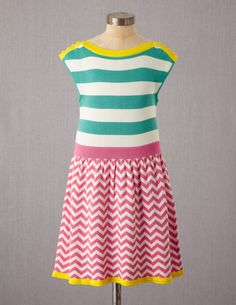 Mini Boden Colourful Summer Knitted Dress